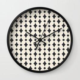 Vintage Jewels - Black Wall Clock