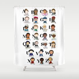 G is for Girl Power Shower Curtain
