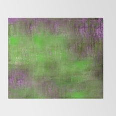 Green Color Fog Throw Blanket