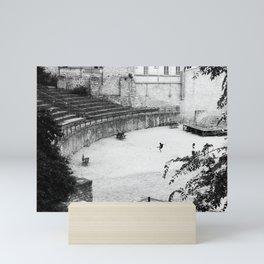 Soccer arena Mini Art Print