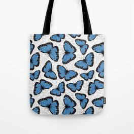 Blue morpho butterflies Tote Bag