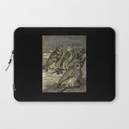 OWLS IN THE DARK Laptop Sleeve