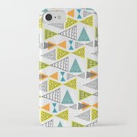 mid century modern iPhone & iPod Cases featuring Geometric Mid Century Modern  Triangles by Ryan Deighton