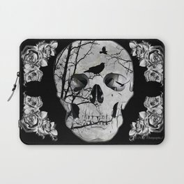 Gothic Skull Crow Rose A353 Laptop Sleeve