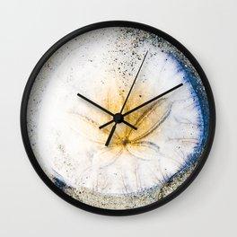 Sand Dollar Love Wall Clock
