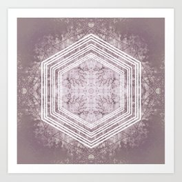 Hexagon Forrest Art Print