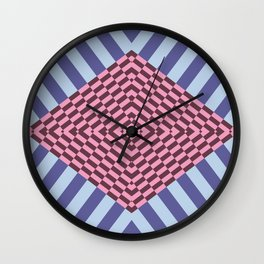 rombos y diagonales Wall Clock