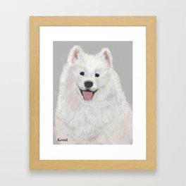 Kermit, the Samoyed Framed Art Print