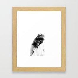 hair flick Framed Art Print
