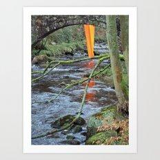 Orange Reflection Series - Gibson Mill 1 Art Print