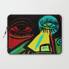 """Rosy Cheeks"" Abstract Portrait Painting Laptop Sleeve"