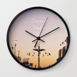 Dream it.Wish it. Do it Wall Clock