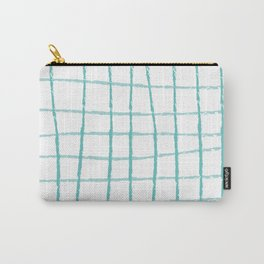 Blue Grid Carry-All Pouch