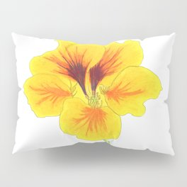 Indian cress flower - illustration Pillow Sham