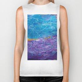 Purple/Blue Abstract Biker Tank