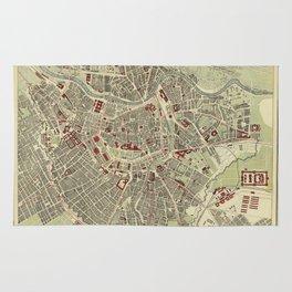 Map of Vienna 1883 Rug