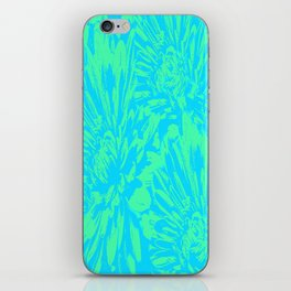 Ocean Blue Floral Abstract iPhone Skin