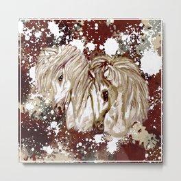 Two Magical Ponies Metal Print
