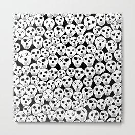 Silly Skulls Metal Print