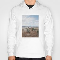 horses Hoodies featuring Running Horses by Kevin Russ