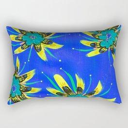 Gold Aria Rose Rectangular Pillow