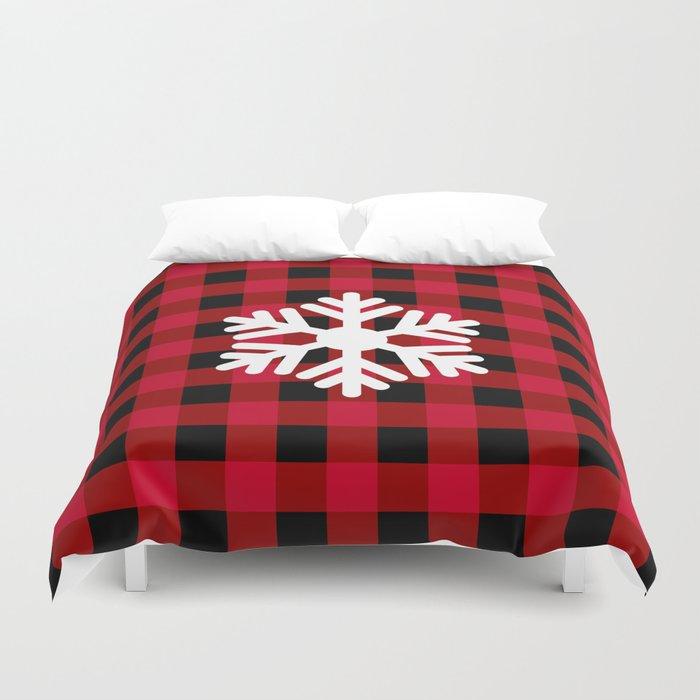 Red Buffalo Check - snowflake - more colors Bettbezug