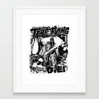 horror Framed Art Prints featuring Horror by HEADBANGPARTY