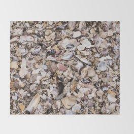 Broken shells Throw Blanket