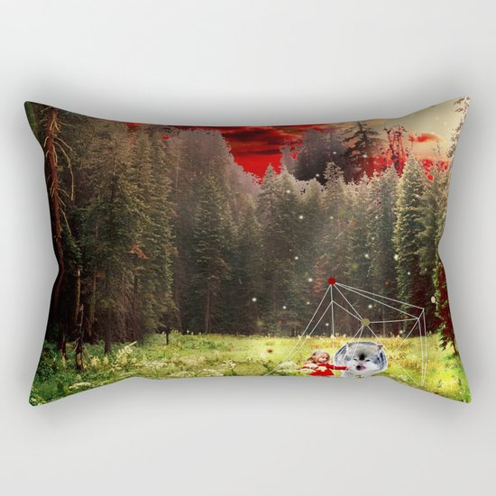 THE REAL STORY OF THE LITTLE RED RIDING HOOD Rectangular Pillow