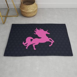 Visible Invisible Pink Unicorn Rug