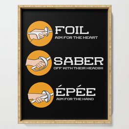 Foil Saber Epee | Fencing Serving Tray