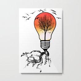 Life Light Metal Print