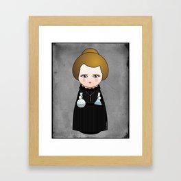 Kokeshi Marie Curie Framed Art Print