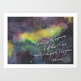 Merely a whisper Art Print
