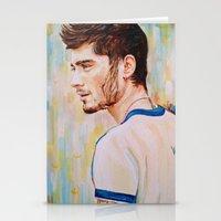 zayn malik Stationery Cards featuring Zayn Malik One Direction by Iván Gabela