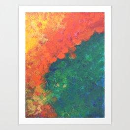 Between Blaze and Blade Art Print