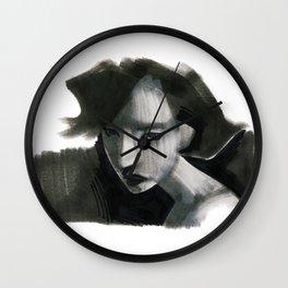 assassin (sharpie on paper) Wall Clock