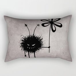 Evil Flower Bug Rectangular Pillow