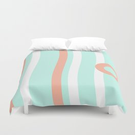 Turquoise & Coral (7) Duvet Cover