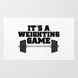It's A Weighting Game Rug