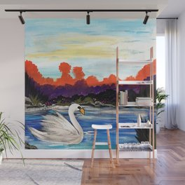 Swan Life Wall Mural