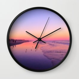 Dusk Beach in Brigantine Wall Clock