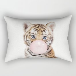 Bubble Gum Tiger Cub Rectangular Pillow