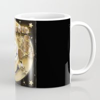 black and gold Mugs featuring Black Gold by Nikola Kolobaric