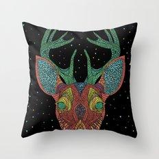 Intergalactic Deer Throw Pillow