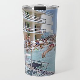 Rio Motel Pool with Trampolines. A 1960's photograph. Wildwood, New Jersey Travel Mug