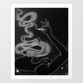 Midnight Toker (#3), Smoking Lady Series Art Print