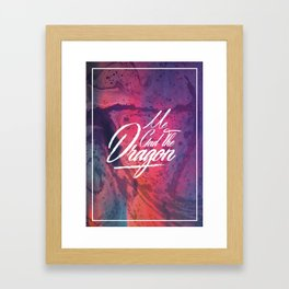 Me And The Dragon Framed Art Print