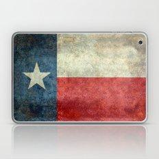 Texas flag, Retro distressed texture Laptop & iPad Skin