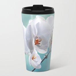 Orchid white macro 084 Travel Mug